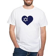 Blue Hart with Magen David T-Shirt