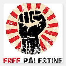 "Free palestine Square Car Magnet 3"" x 3"""