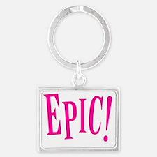 Epic - Hot Pink Landscape Keychain