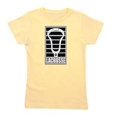 Lacrosse Head Lines Girl's Tee