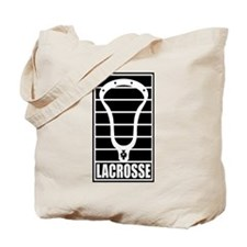 Lacrosse Head Lines Tote Bag