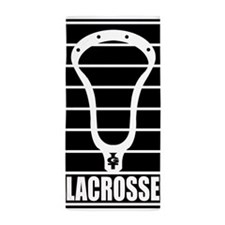 Lacrosse Head Lines Beach Towel