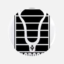 """Lacrosse Head Lines 3.5"""" Button"""