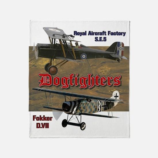 Dogfighters: SE5 vs Fokker D.VII Throw Blanket