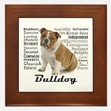 Bulldog Traits Framed Tile