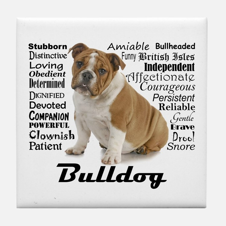 Bulldog Traits Tile Coaster