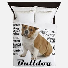 Bulldog Traits Queen Duvet