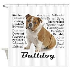 Bulldog Traits Shower Curtain