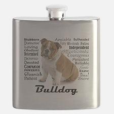 Bulldog Traits Flask