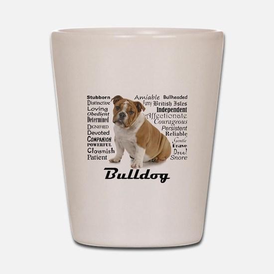 Bulldog Traits Shot Glass