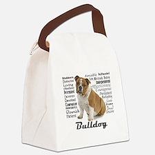 Bulldog Traits Canvas Lunch Bag