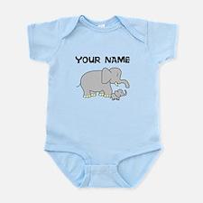 Custom Baby Elephant And Mom Body Suit