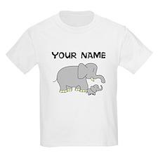 Custom Baby Elephant And Mom T-Shirt