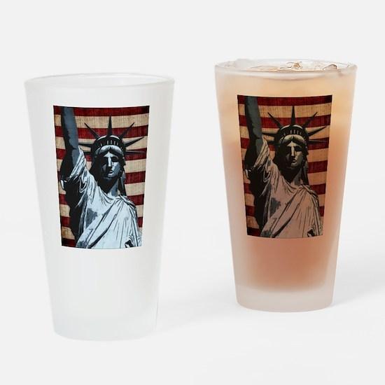 Liberty Flag Drinking Glass
