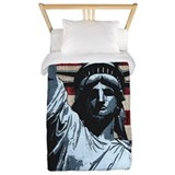Statue of liberty Luxe Twin Duvet Cover