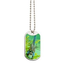 Smiling dragonfly Dog Tags
