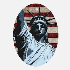 Liberty Flag Ornament (Oval)