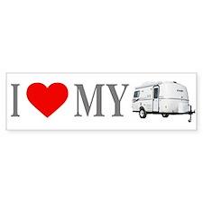 I Love My Casita (Red Heart) Bumper Bumper Stickers