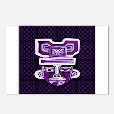 Purple Tiki Mask Postcards (Package of 8)