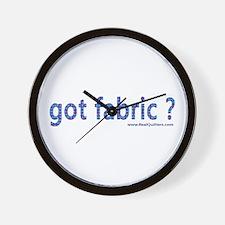 Got Fabric? Wall Clock