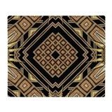 Art deco Fleece Blankets