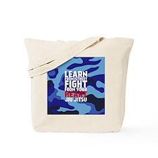 Learn Jiu Jitsu Red - Blue Camouflage Tote Bag