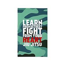 Learn Jiu Jitsu Red - Green Camouflage 3'x5' Area