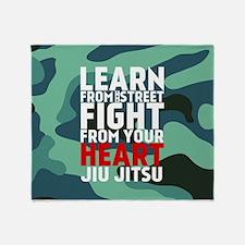 Learn Jiu Jitsu Red - Green Camouflage Throw Blank