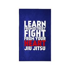 Learn Jiu Jitsu Red - FULL 3'x5' Area Rug