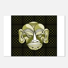 Green Tiki Mask Postcards (Package of 8)
