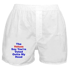 Voices Say You're Outta My Head Boxer Shorts