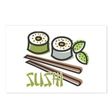 Cool Artsy Sushi Design Postcards (Package of 8)