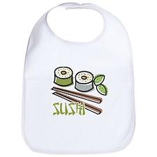 Cool Artsy Sushi Design Bib