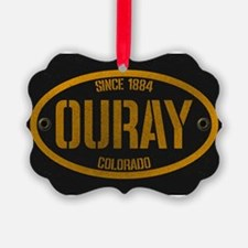 Ouray Spraypaint Oval Ornament