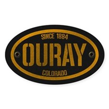 Ouray Spraypaint Oval Decal