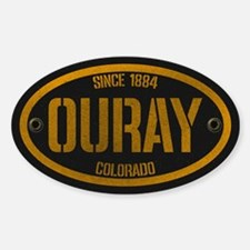 Ouray Spraypaint Gold Sticker (oval)
