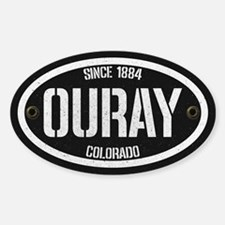 Ouray Spraypaint White Sticker (oval)