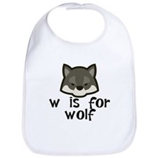W Is For Wolf Bib