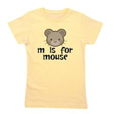 M Is For Mouse Girl's Tee