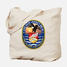 USS New Jersey BB-62 Tote Bag