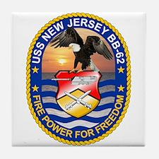 Uss New Jersey Bb-62 Tile Coaster