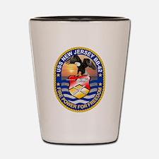 USS New Jersey BB-62 Shot Glass