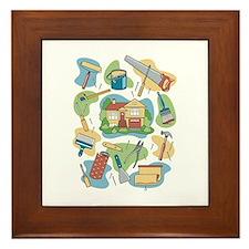 Cute Tools Framed Tile