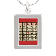 Bingo Game Card Necklaces