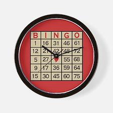 Unique Bingo game Wall Clock