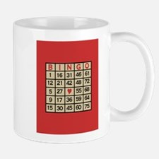 Bingo Game Card Mugs