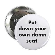 "Damn Seat 2.25"" Button"