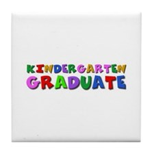 Kindergarten graduation idea Tile Coaster