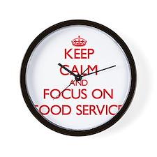 Cute Food service Wall Clock