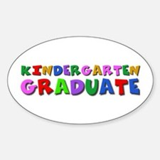 Kindergarten graduation idea Oval Decal